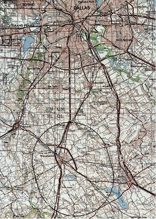 The SSC's planned footprint would have been only slightly smaller than the city of Dallas, entirely surrounding Waxahachie. (image taken from Wikipedia)