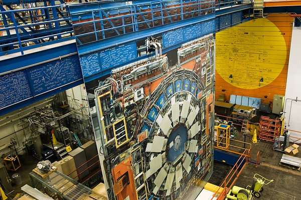 The door hiding the CDF detector at the Tevatron.
