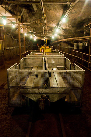 The carts used on the underground mine tour, which is different from the high energy physics tour. Sadly, I had an 8-hour drive ahead of me and couldnt take advantage of the opportunity.