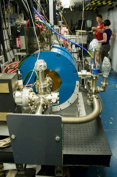 Aluminum foil makes another appearance, this time on Argonne's experimental wakefield accelerator
